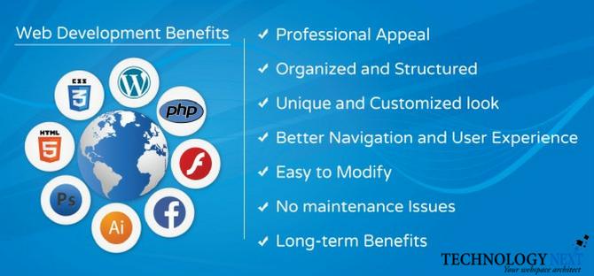 Top 7 Benefit Of Web Development Technology Next The Leading Web Development Company Web Development Web Development Company Development