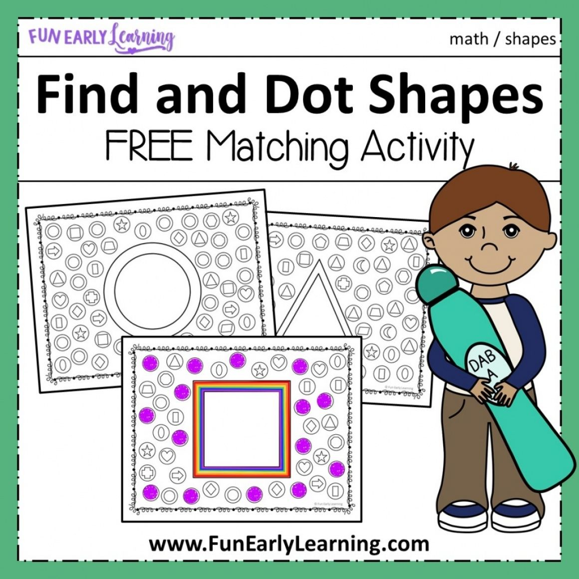 Find And Dot Matching Shapes