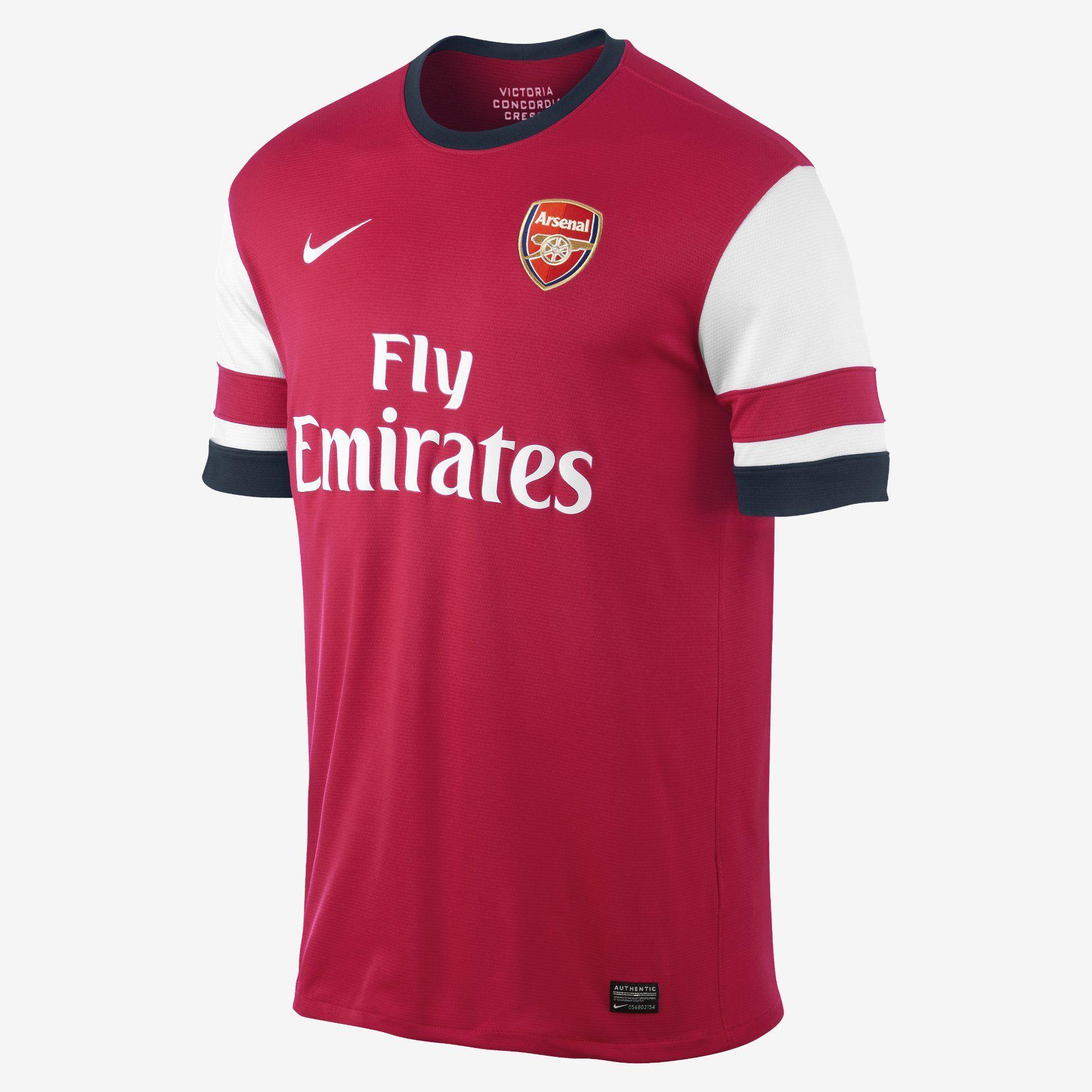 7c73b7f81d Nike Store. 2013 14 Arsenal Football Club Replica Short-Sleeve Men s ...