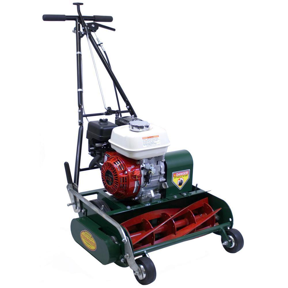 California Trimmer Classic Standard 20 In 5 Blade Honda Gas Walk Behind Self Propelled Reel Lawn Mower Lawn Mower Reel Lawn Mower Mulching Lawn Mower
