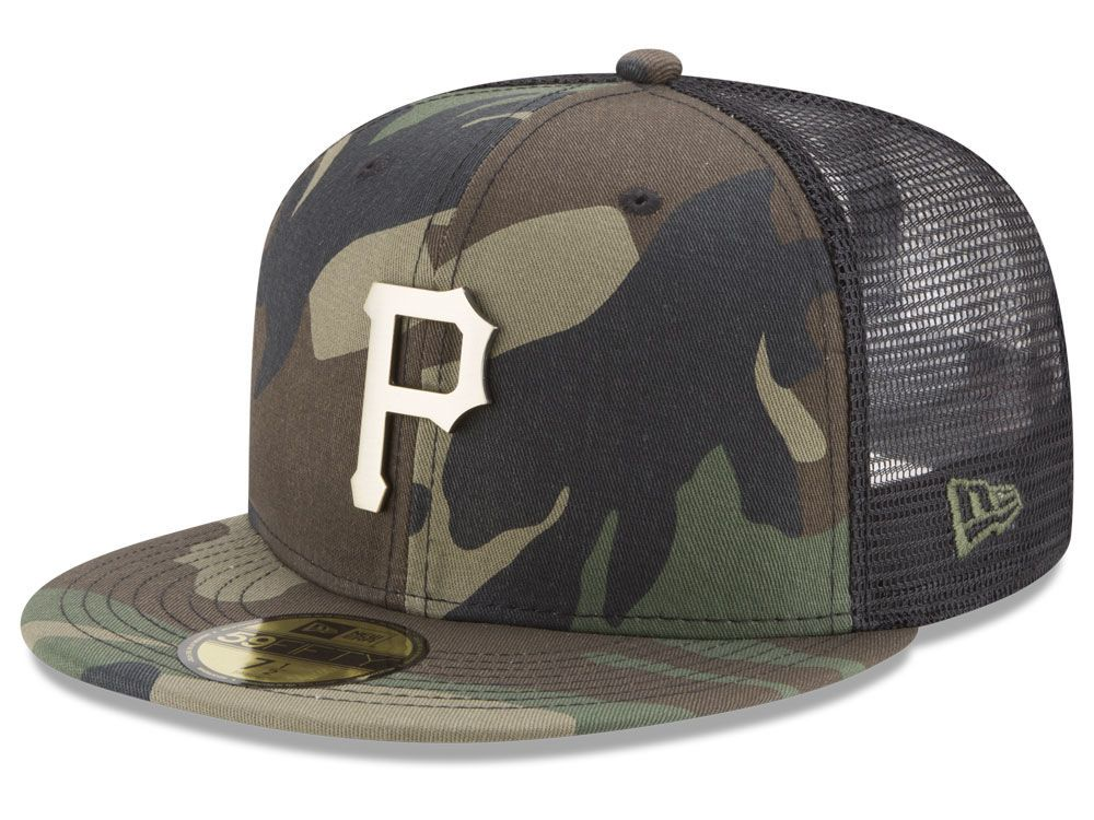 popular stores discount sale online for sale Pittsburgh Pirates New Era MLB Camo Mesh Back 59FIFTY Cap ...