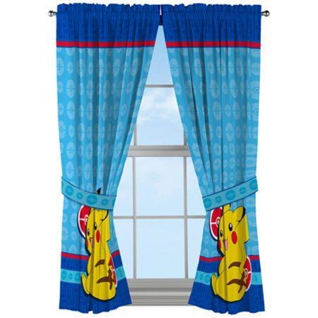 Kids Bedroom Curtains New 891 Pokemon Electric Ignite Kids Bedroom Curtains  Bedrooms 2018