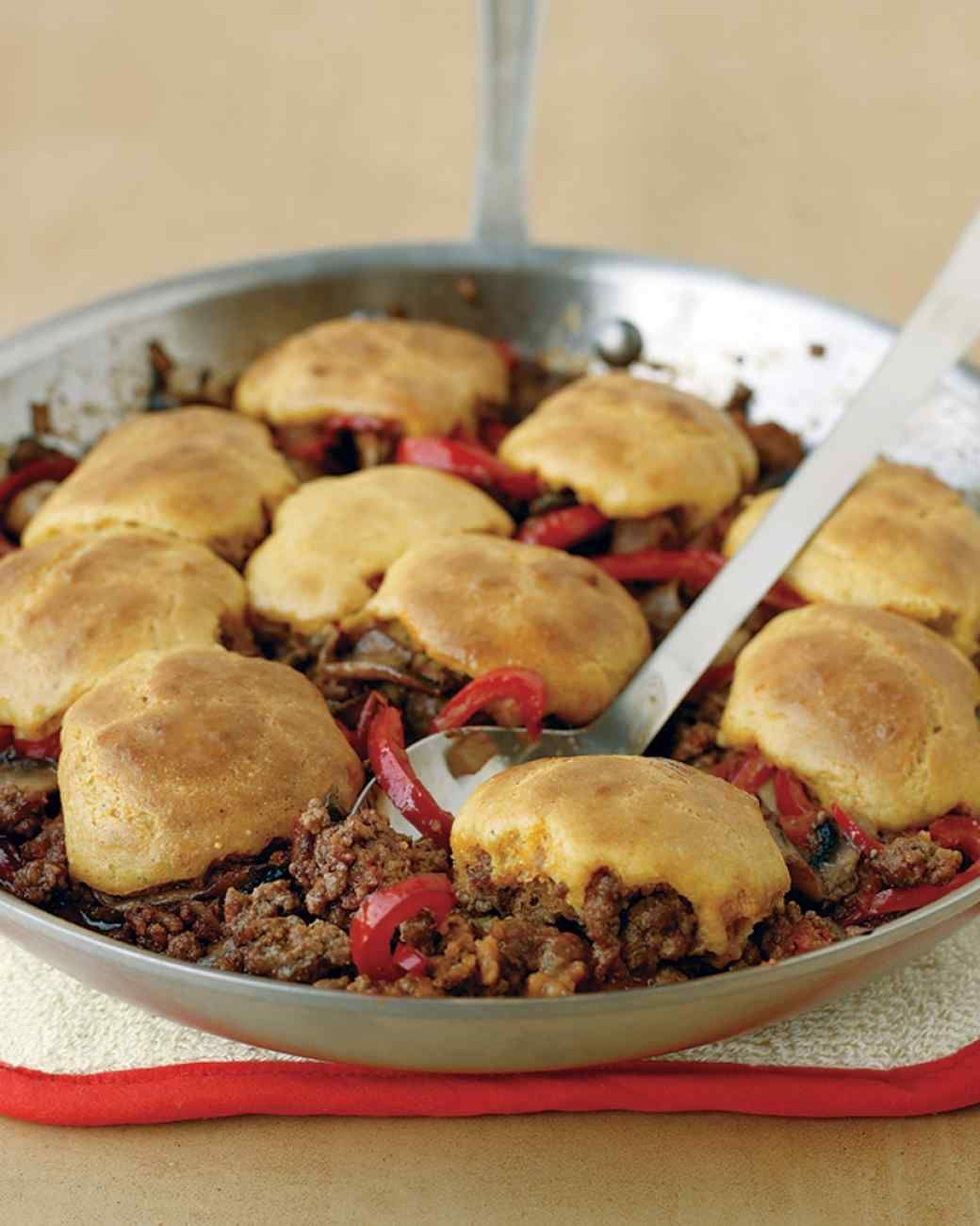 Photo of Cornbread-and-Beef Skillet Pie-Cornbread-and-Beef Skillet Pi…