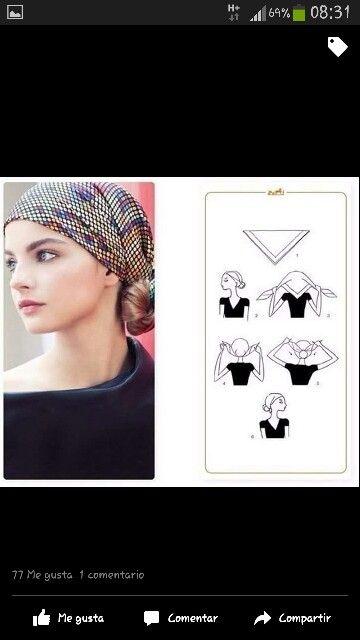 b2804260e433 Scarf Styles, Hair Styles, Scarf Knots, Headscarves, Turbans, Silk Scarves