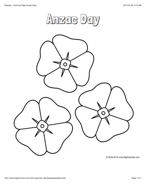 Anzac day coloring page with a picture of 3 poppies to color anzac day coloring page with a picture of 3 poppies to color ccuart Gallery