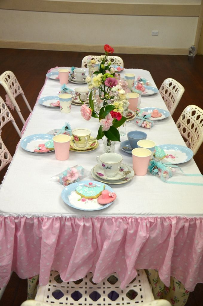 High Tea Table Decorations For Our 6 Year Old Daughters Birthday