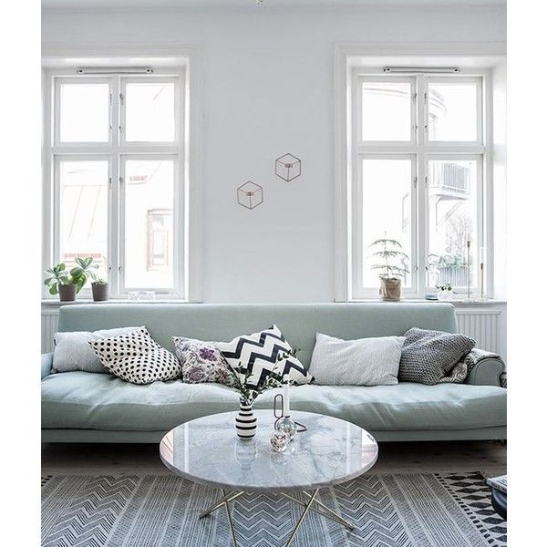 Mint green sofa in a light home COCO LAPINE DESIGN liked ...