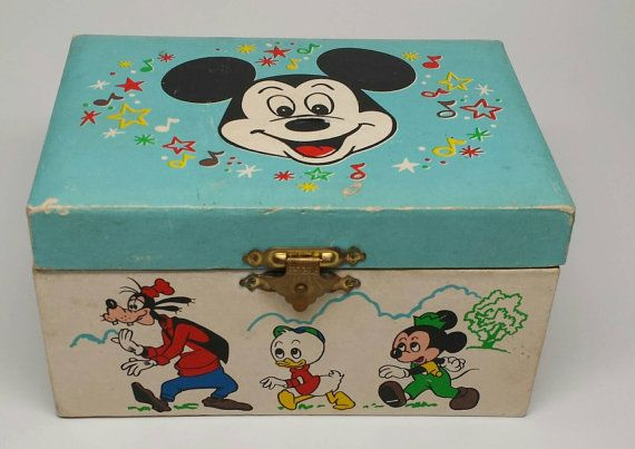 Vintage Mickey Mouse Musical Jewelry Box by RiverPickers on Etsy