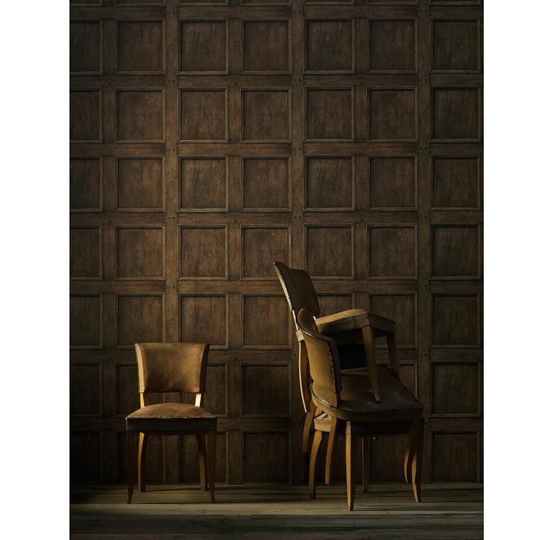 Traditional Aged Wood Panel Wallpaper Oak Interior Wallpaper Design Oak Panels