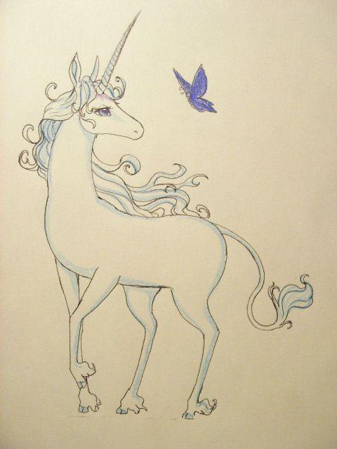 Last Unicorn Sketch | art in 2019 | The last unicorn, Unicorn ...