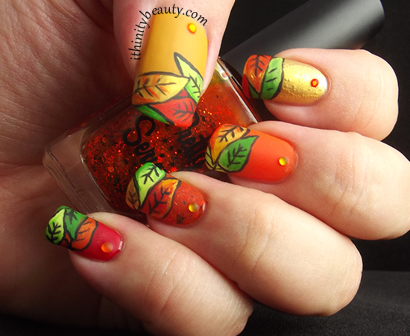 16 Fall Nail Art Designs You\'ll Fall In Love With | Autumn nails ...