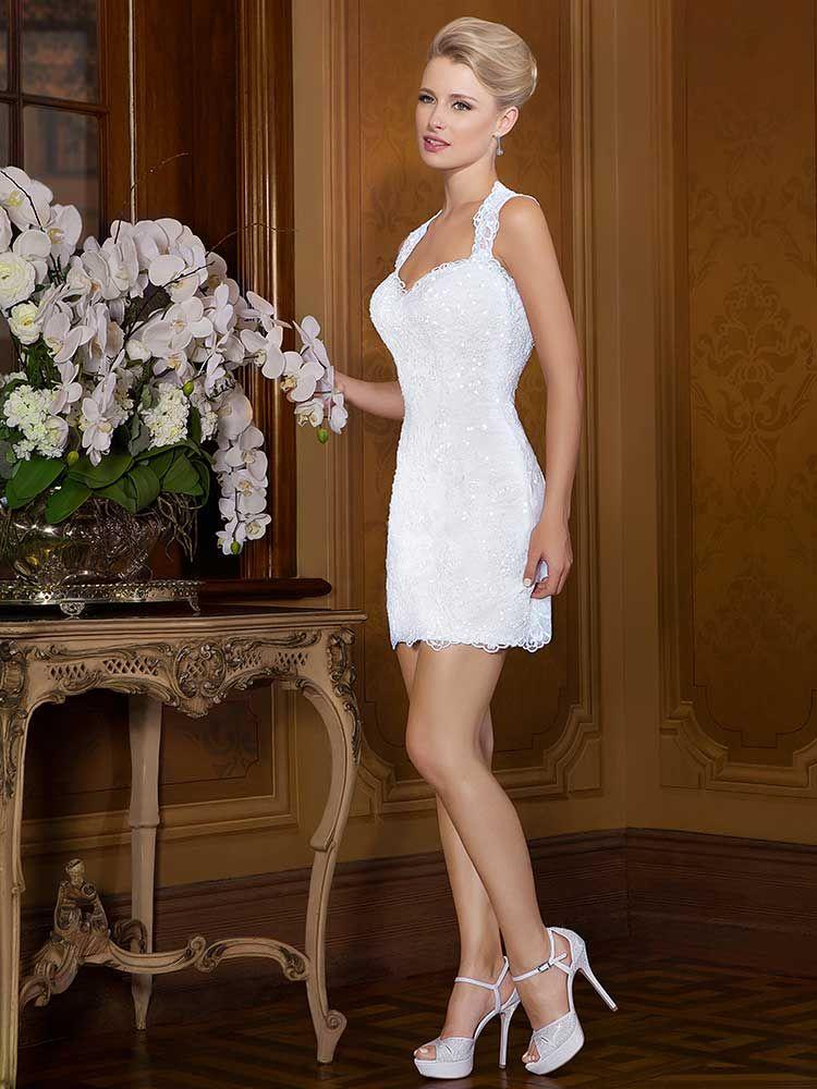 такая фото невест в коротком платье это небольшая