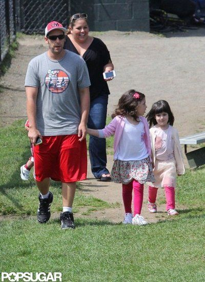 Famous Fathers Get Cute With Their Kids! | Adam Sandler