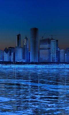 Noche de invierno en Chicago