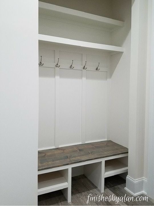 Mudroom in a new construction home this was originally for Building a mudroom bench