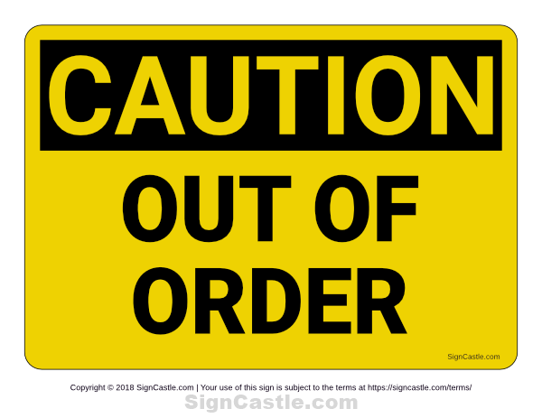 photograph regarding Out of Order Sign Template referred to as Pin by means of Muse Printables upon Printable Indications at