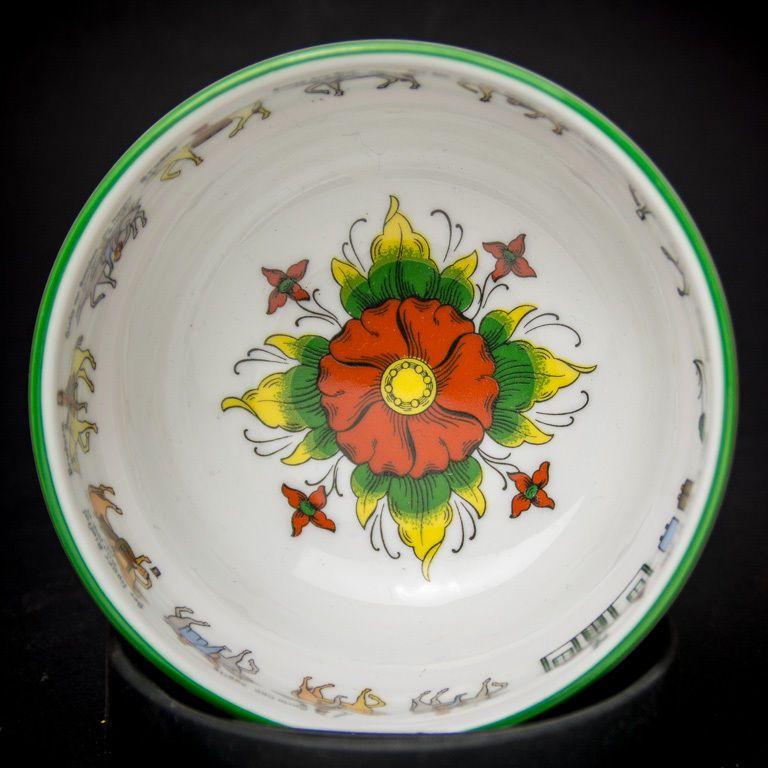 NORWEGIAN Porsgrund Porcelain Bowl Nordic Wedding Procession Design Norway