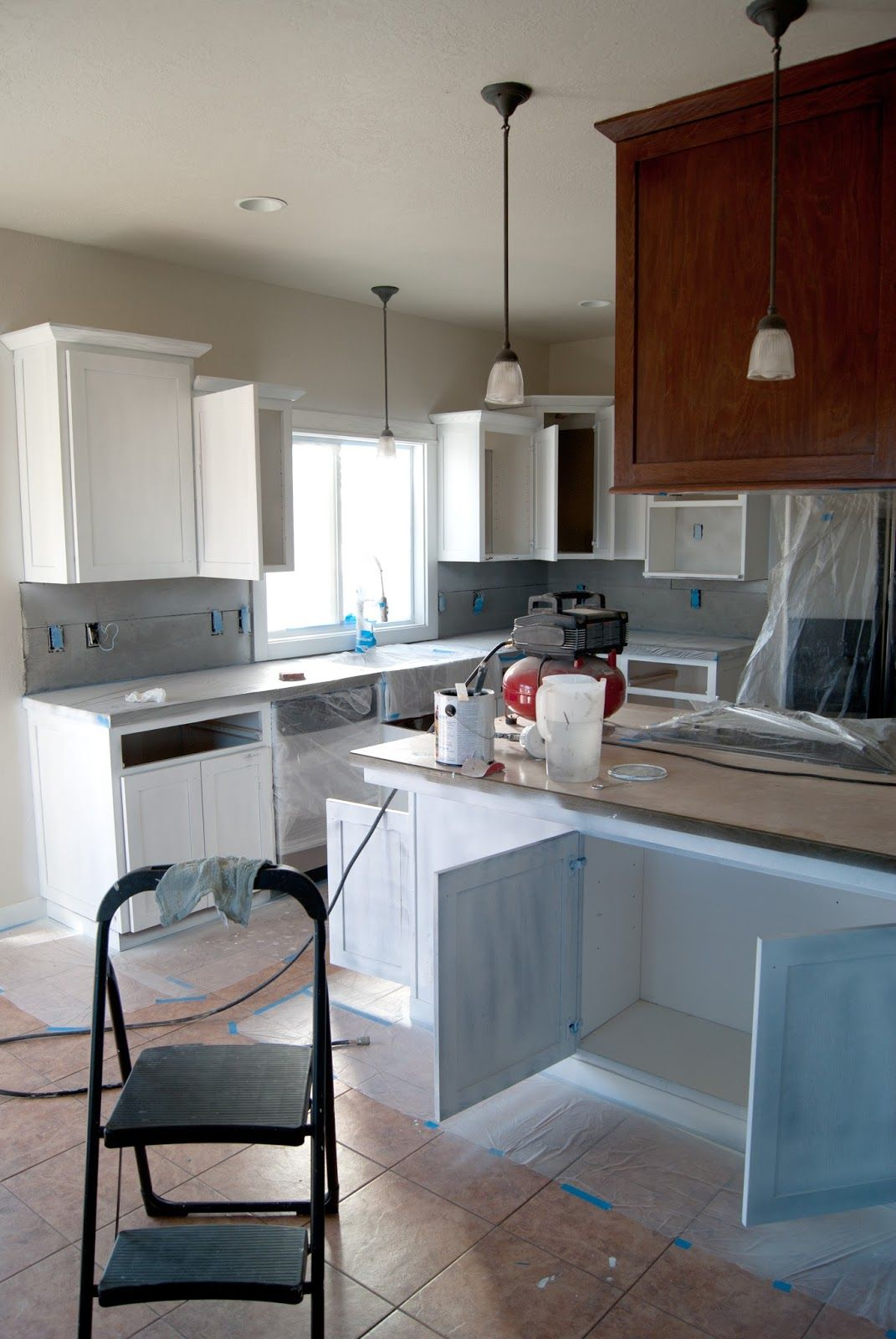 Painting the Kitchen Cabinets - Primer + Paint   Primer ...