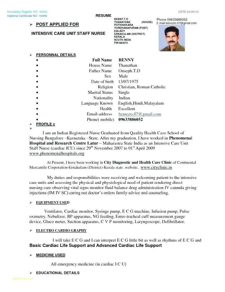 Resume Format Kerala Format Kerala Resume Resumeformat