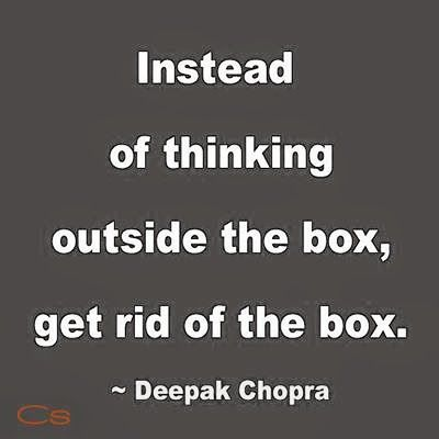 Instead of thinking outside the box #quote