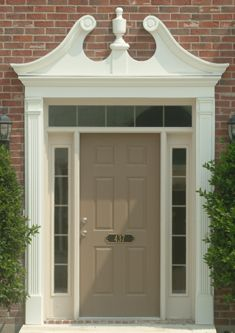 Fypon photo gallery accent building products trim - Exterior door pediment and pilasters ...