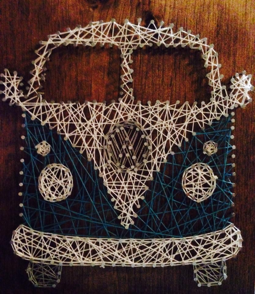 Volkswagon string art vw bus | Artsies | Pinterest | Nagelbilder ...