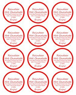 DIY Rudolph Hot Chocolate Gift FREE Printable Label - CincyShopper