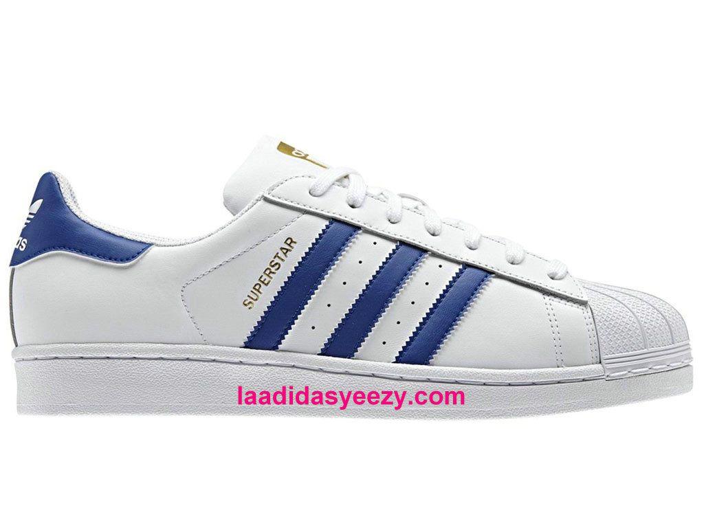 Adidas Chaussures Femme Originals Superstar Foundation Prix Blanc Bleu B27141