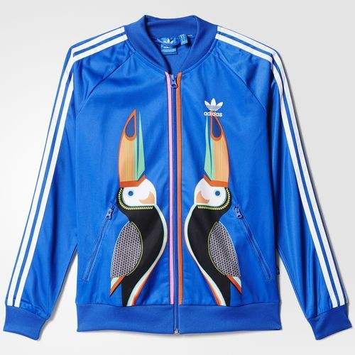 low cost 3a1a0 a2bd9 Veste de survêtement Supergirl - bleu adidas   adidas France