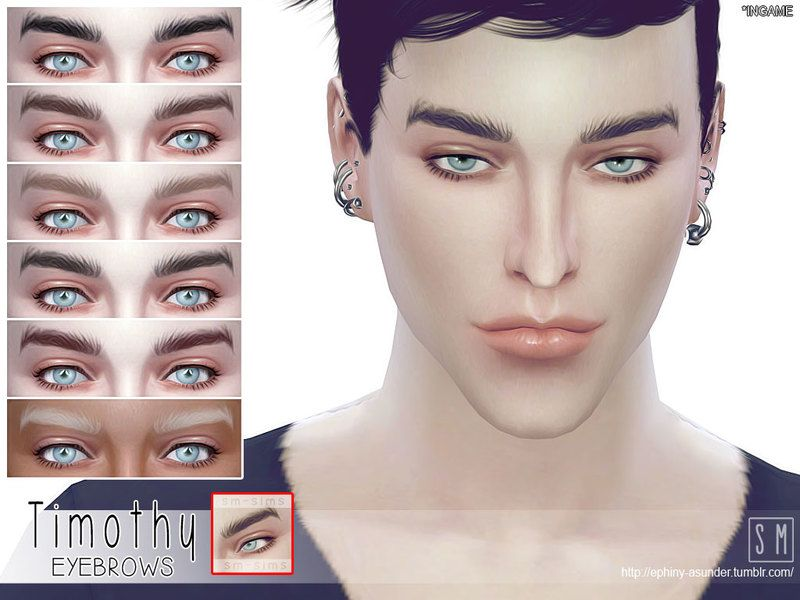 Lana CC Finds - Timothy - Male Brows by Screaming Mustard ...
