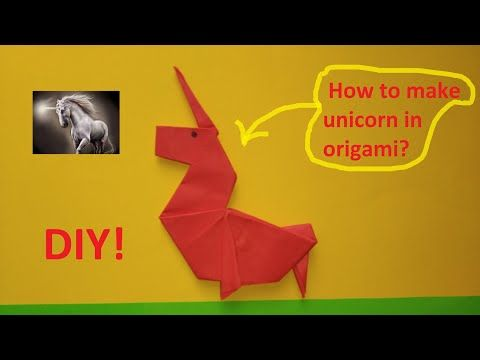 Photo of Unicorn origami. How to make. DIY!
