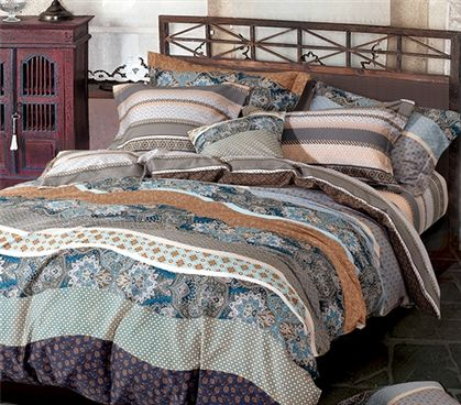 College Extra Long Twin Dorm Comforter Patterned And Flowered