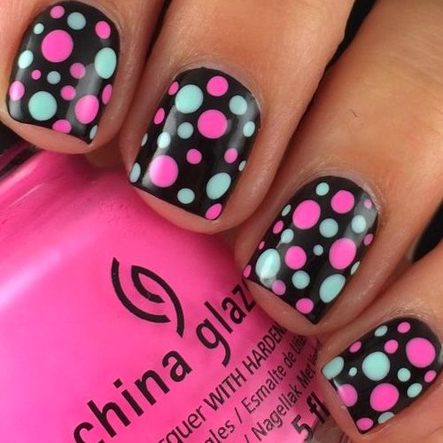 Polka Dot Nails 34 Best Polka Dot Nail Designs Nail Designs