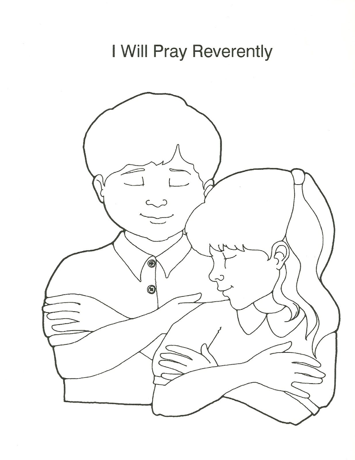 Lovely Lds Prayer Coloring Page 10 Primary Manual Lesson I