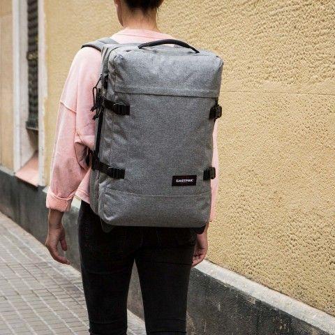4e41a40cb96 Strapverz S Sunday Grey   E A S T P A K   Grey, Leather backpack, Sunday