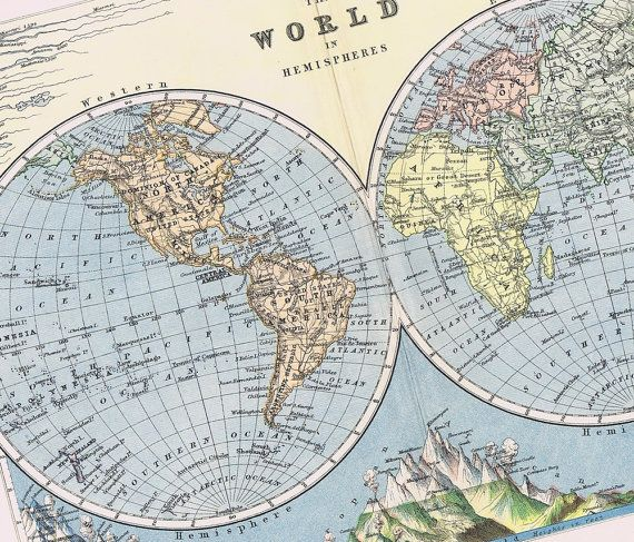 1895 antique world map beautifully by blastsfromthepast on etsy 1895 antique world map beautifully by blastsfromthepast on etsy gumiabroncs Image collections
