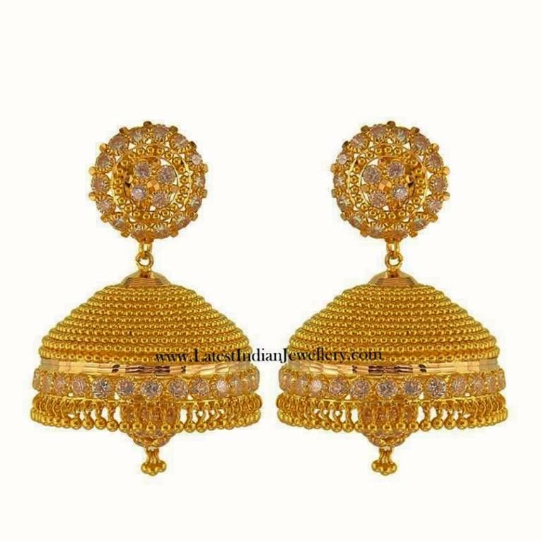 Image result for gold jhumka designs with weight | jhumka ...