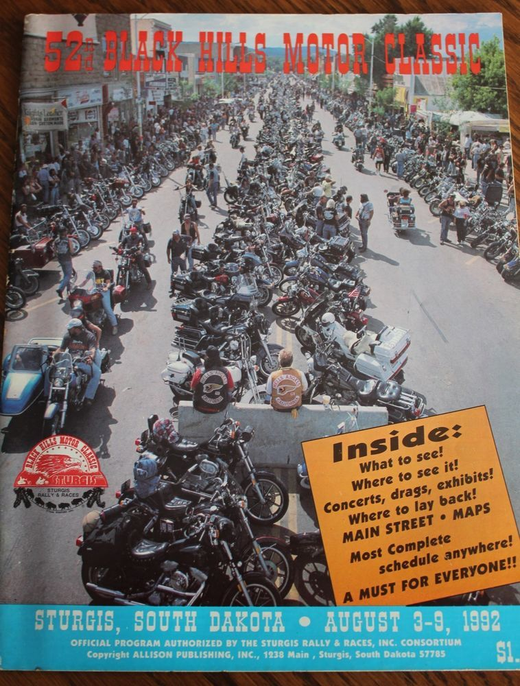 52nd Sturgis Motorcycle Rally Black Hills Motor Classic 1992