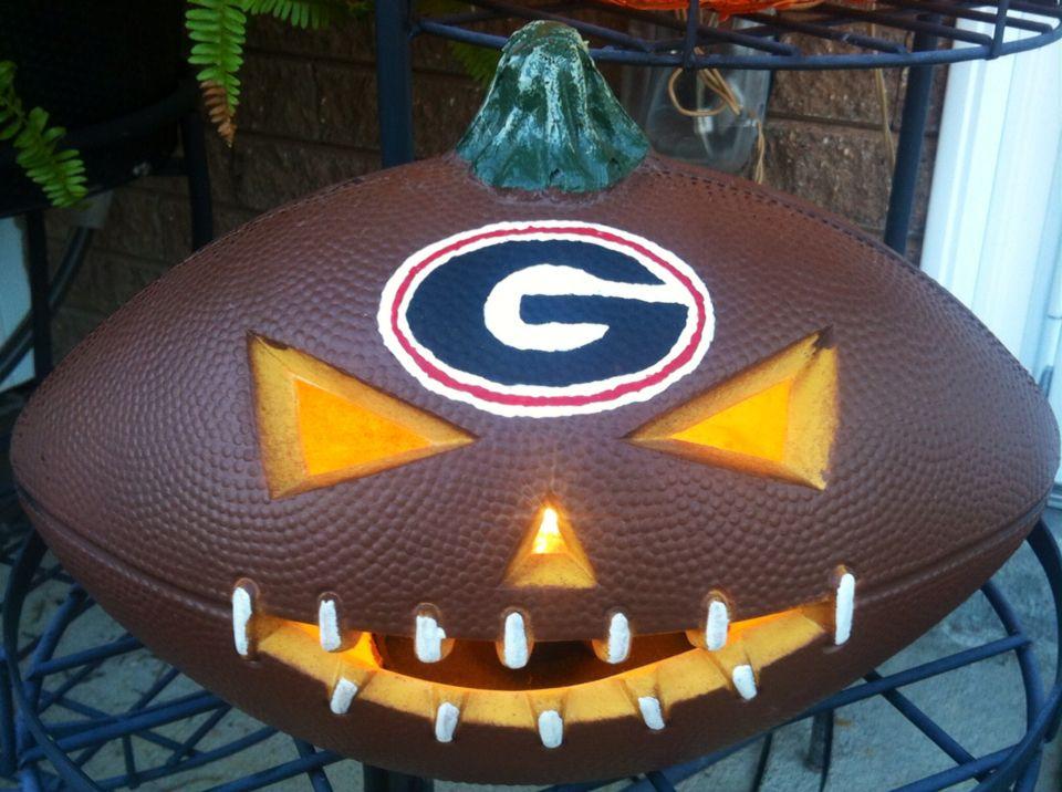 Bulldog football pumpkin bulldogs football