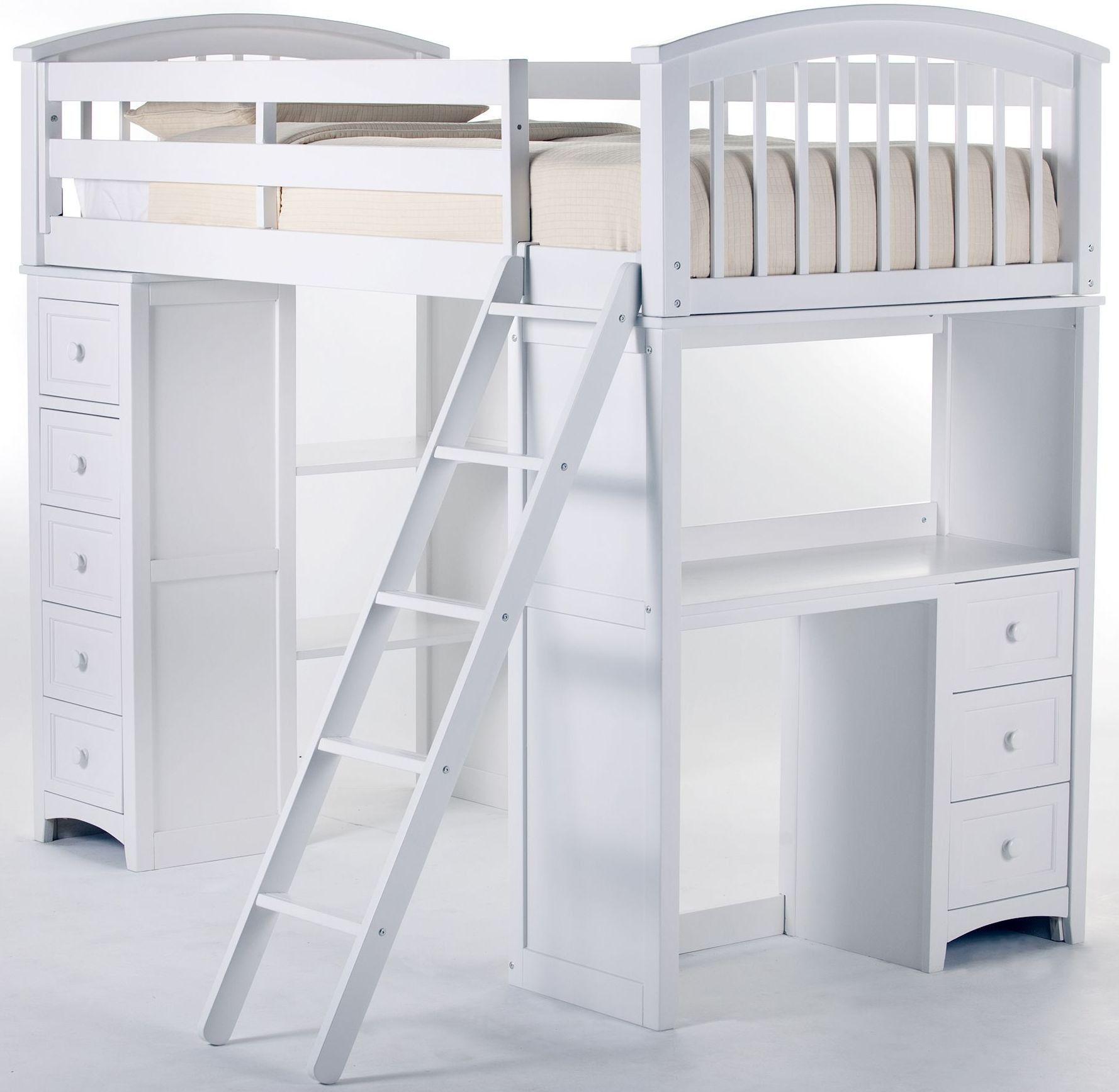 School House White Twin Student Loft Bed In 2021 Loft Bed Room Design Bedroom Girls Loft Bed
