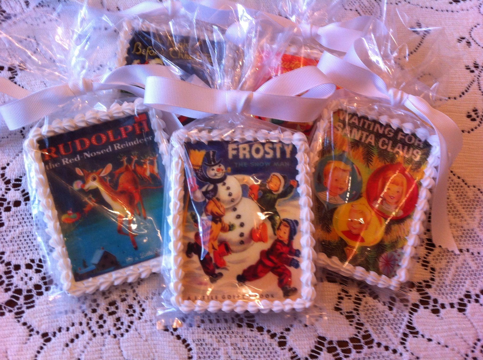 Vintage Christmas Book Cookies