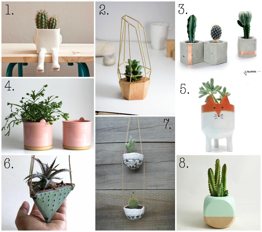 Maceteros peque os recipientes para cactus peque os for Macetas para jardines pequenos