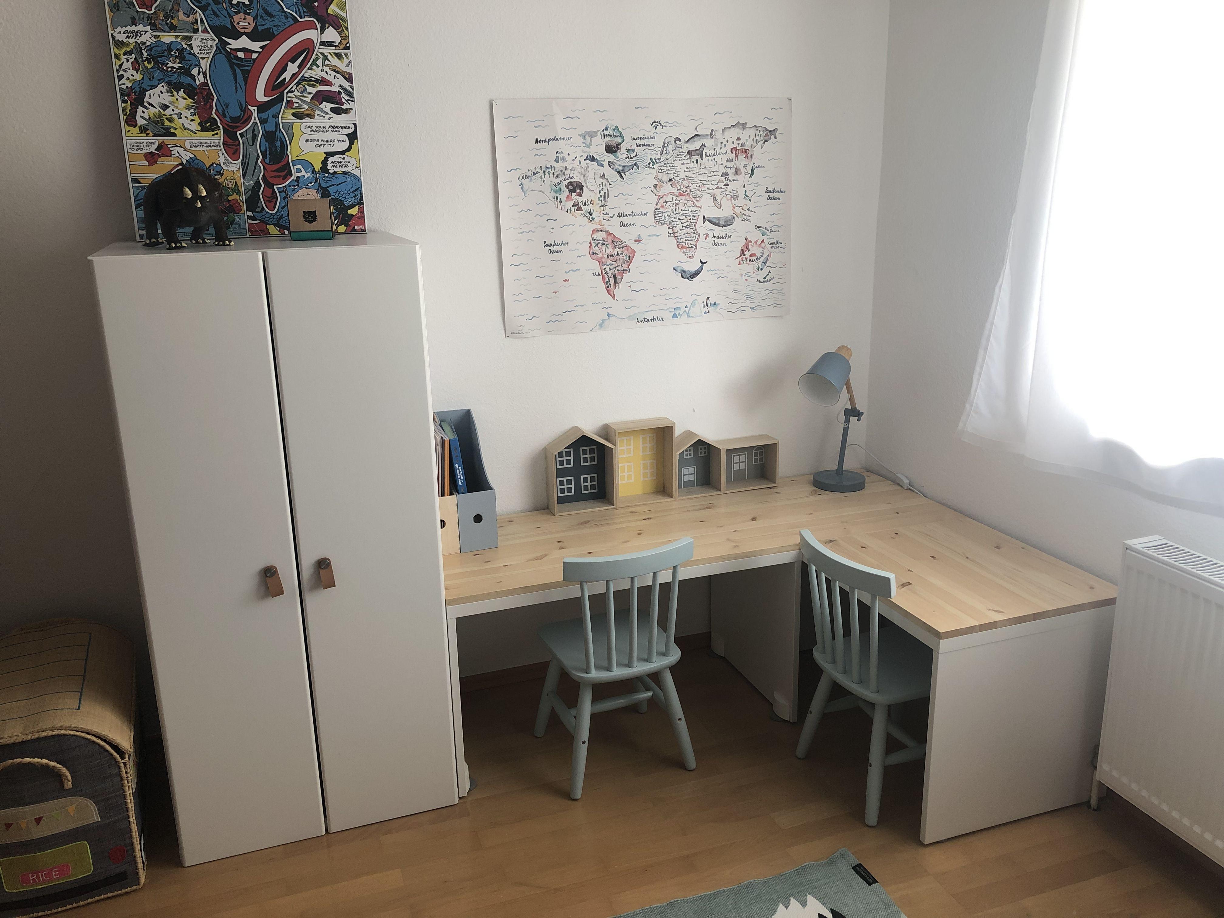 Ikea Hack für Kinderzimmer Schreibtisch Stuva Hack