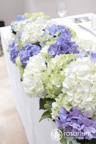 6月の鎌倉 紫陽花の装花 L\u0027EGLISE鎌倉さまへ の画像 · アジサイ結婚式