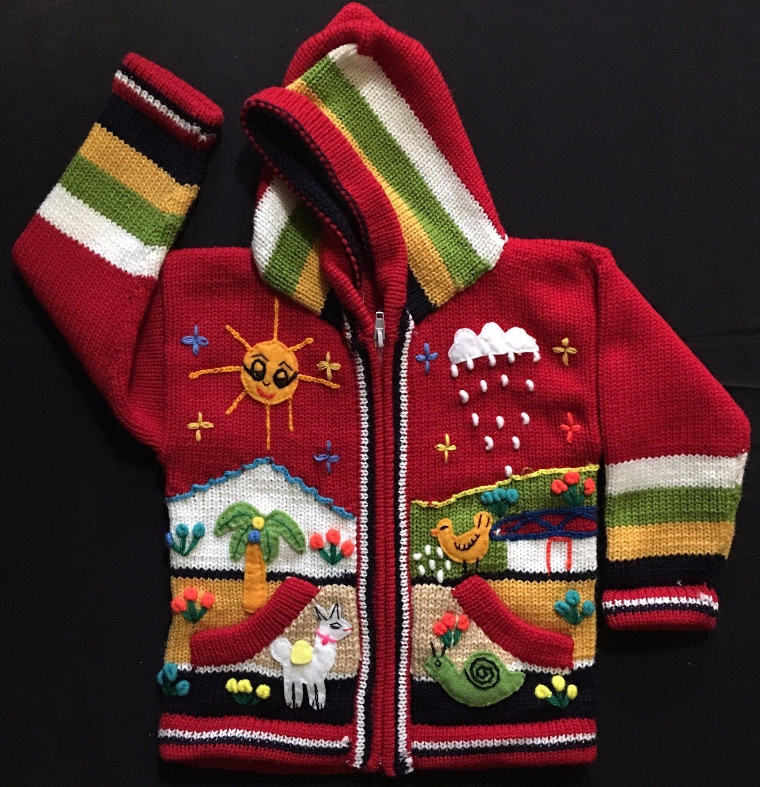 Peruvian Handmade kids sweaters