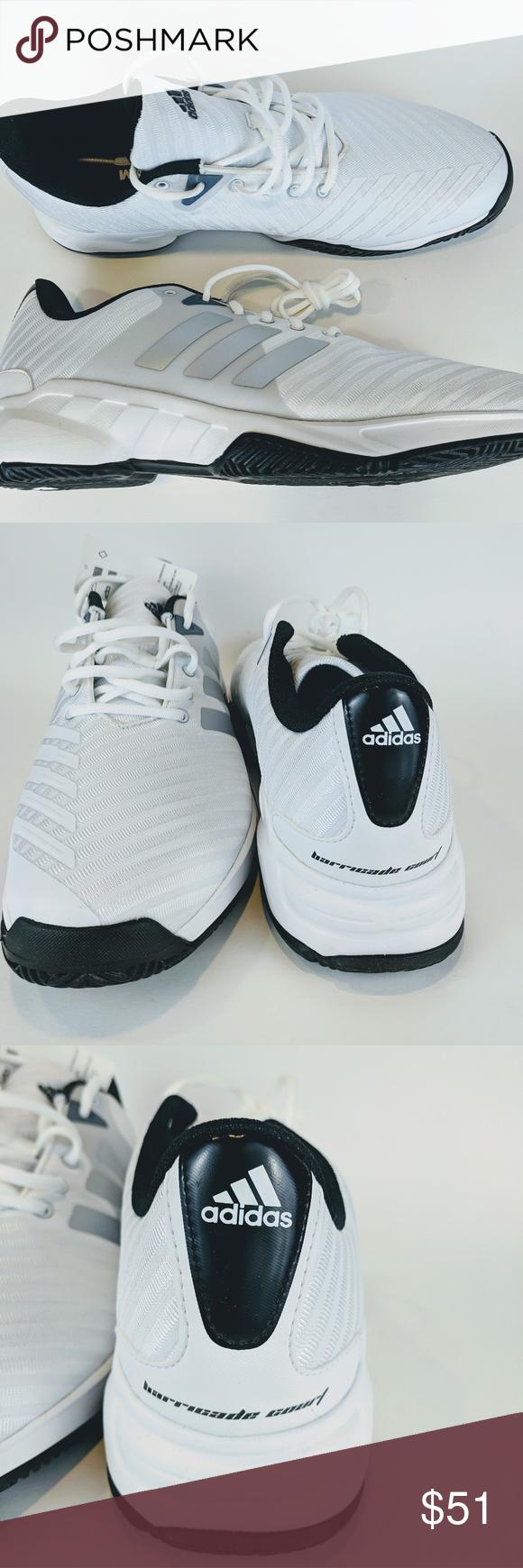 Adidas White Tennis Shoes NWT   White