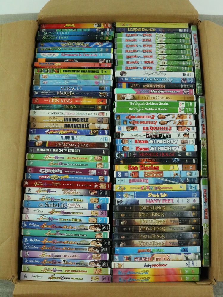 35cd0332 85 Used DVD LOT Kids Family Movie Bulk Wholesale Disney Dreamworks Movies  DVDs