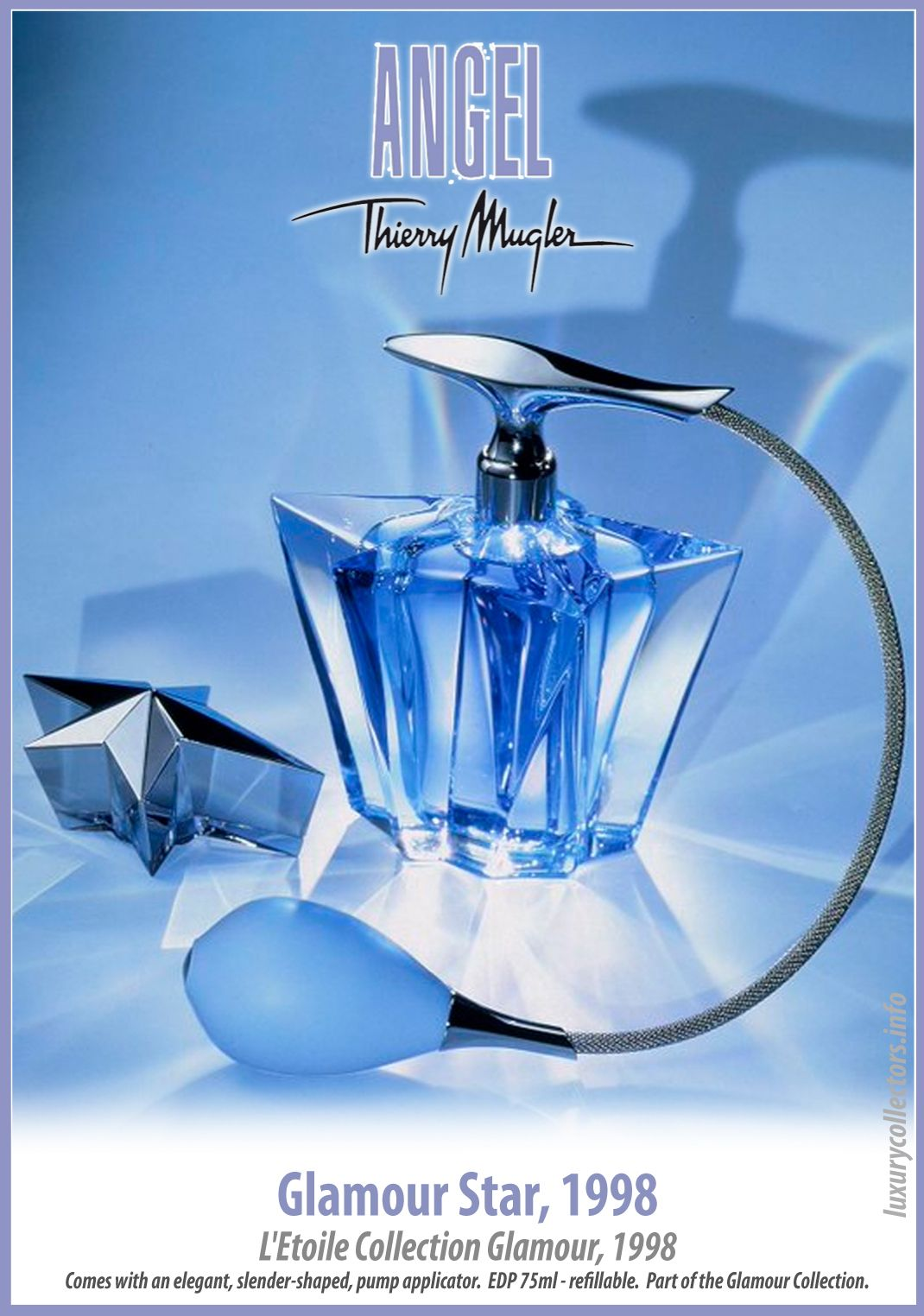 0f8a33b7d Thierry Mugler Angel Perfume Collector s Limited Edition Bottle 1998  Glamour Star