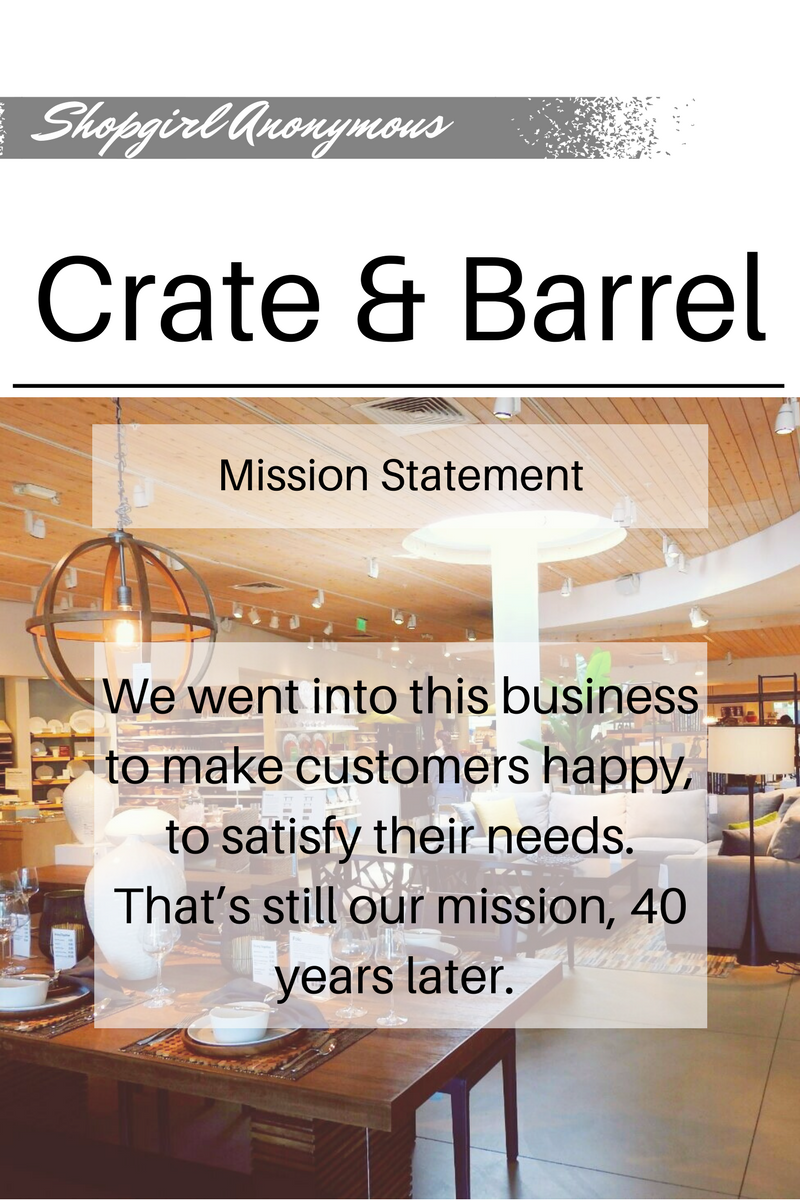Crate Barrel Mission Statement And Full Company Update