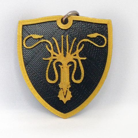 3D Greyjoy Keychain. | #3DPrinted #3DPrinting #Customized